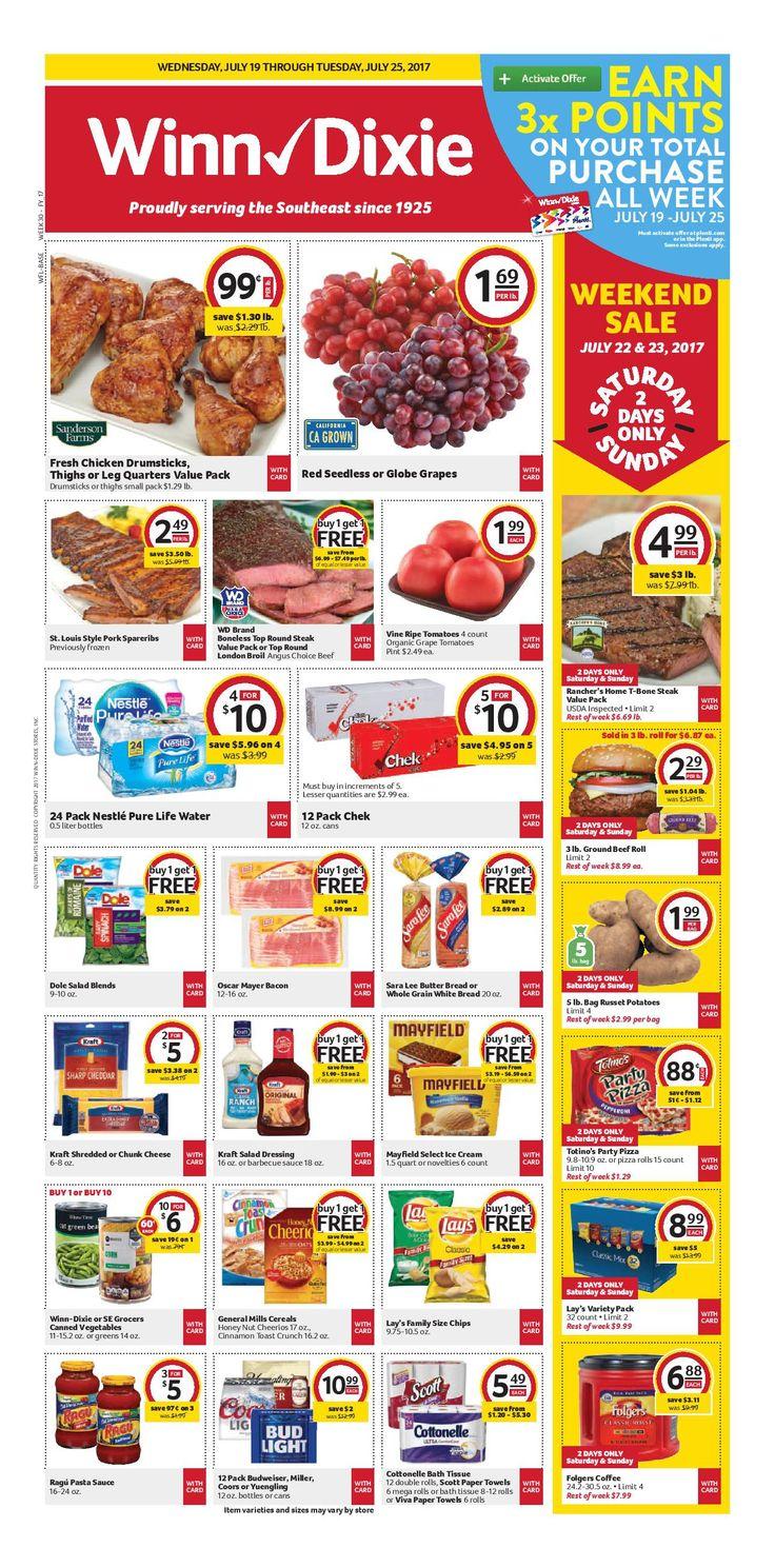 Winn Dixie Weekly Ad July 19 - 25, 2017 - http://www.olcatalog.com/grocery/winn-dixie-weekly-ad.html