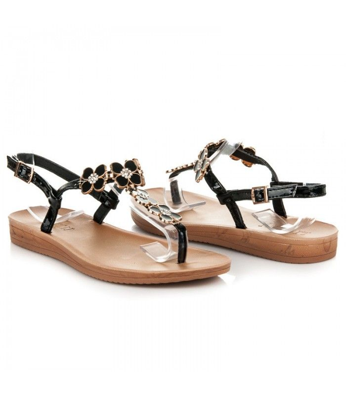 Lakované ploché sandále N17305B