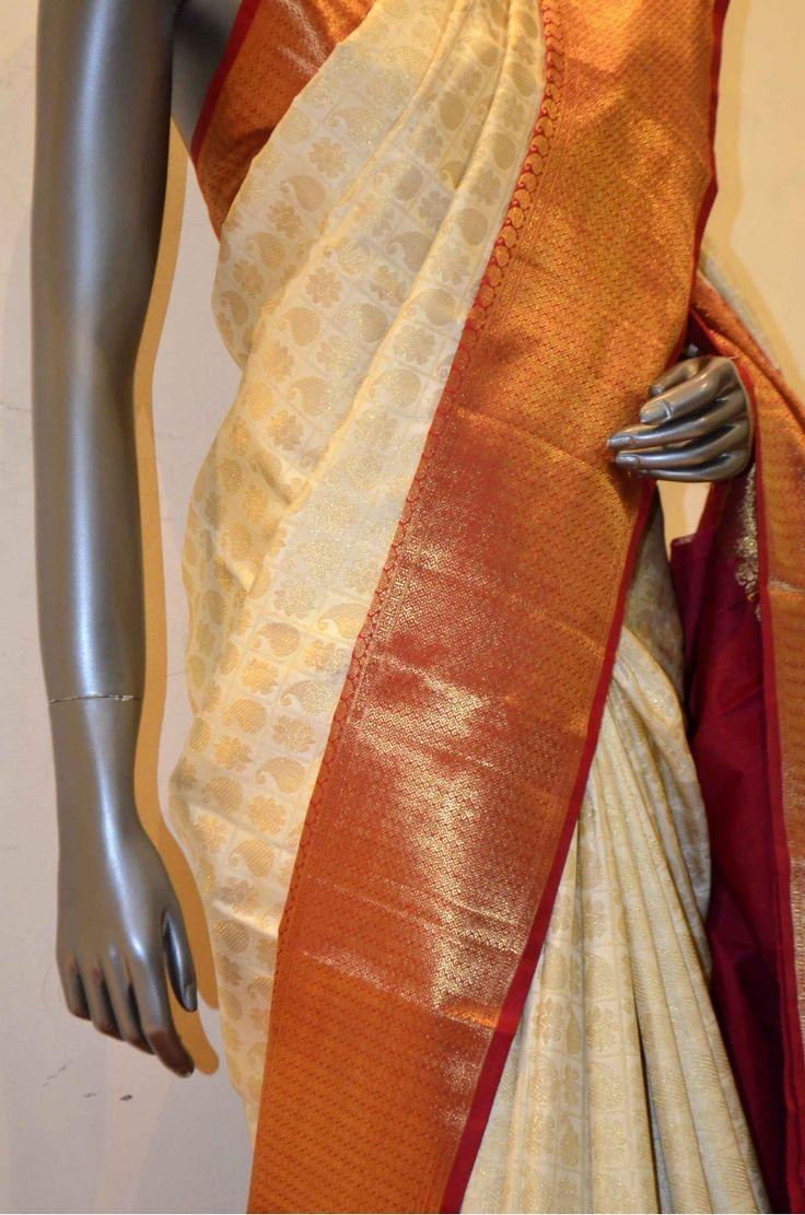 Traditional Zari Brocade Pure Wedding Kanjeevaram Silk Saree