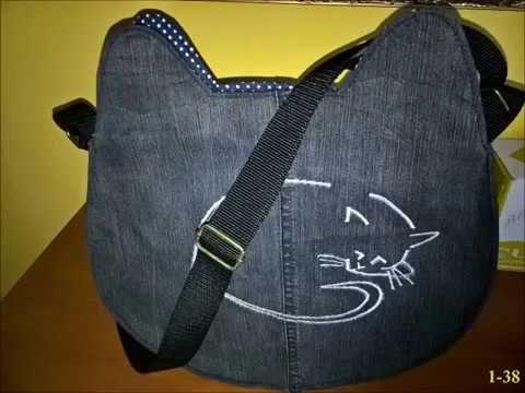 Macska alakú #táska,cica mintával #lépésről -lépésre   Cat #bag #pattern
