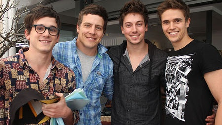 The Home and Away boys left to right (Dex, Brax, Casey, Kyle)