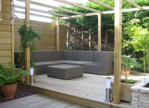 Meer dan 1000 afbeeldingen over tuin op pinterest tuinen buitenleven en planters - Overdekt terras tegel ...