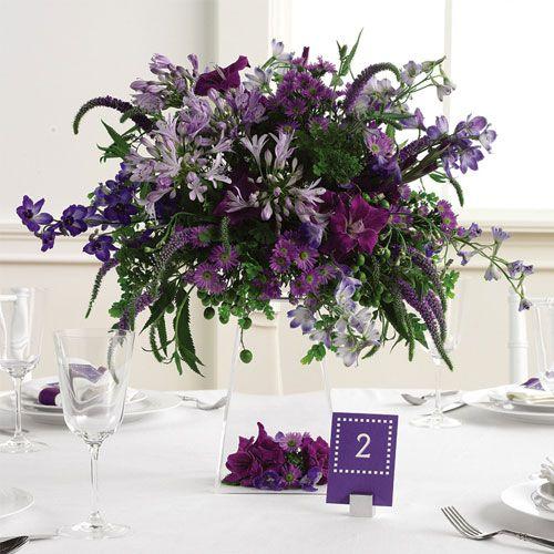 Urban meadows: Floral Centerpieces, Centerpieces Ideas, Flowers Centerpieces, Floral Design, High Tops, Purple Flowers, Wedding Flowers, Winter Centerpieces, Purple Centerpieces