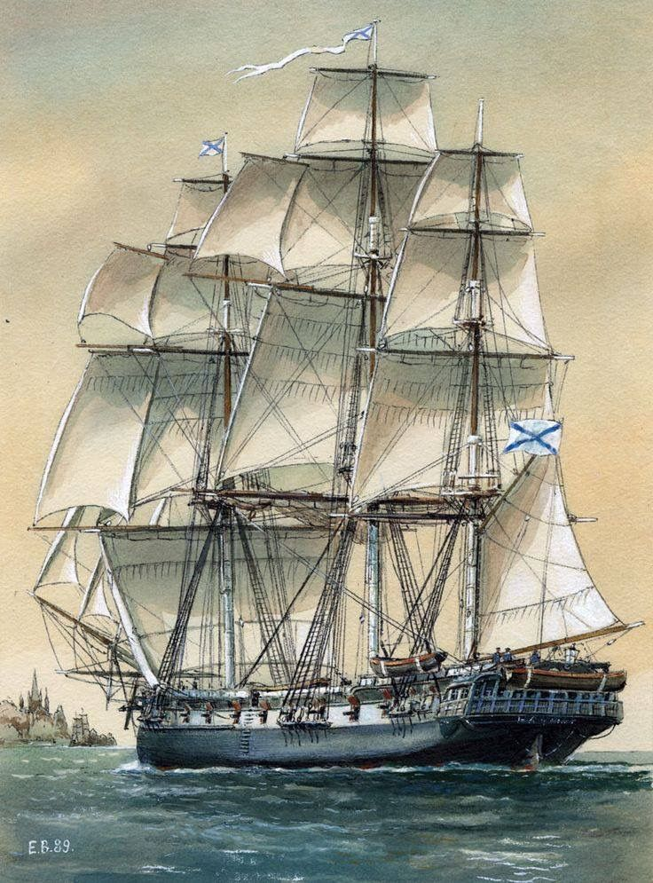Imperial Russian Navy, frigate, 19th c.