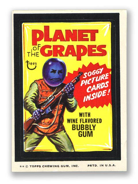 Topps Wacky Packages  11th Series 1974 PLANET OF THE