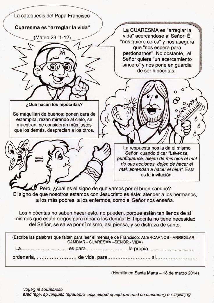 """El Rincón de las Melli: La catequesis del Papa Francisco: Cuaresma es """"arr..."""