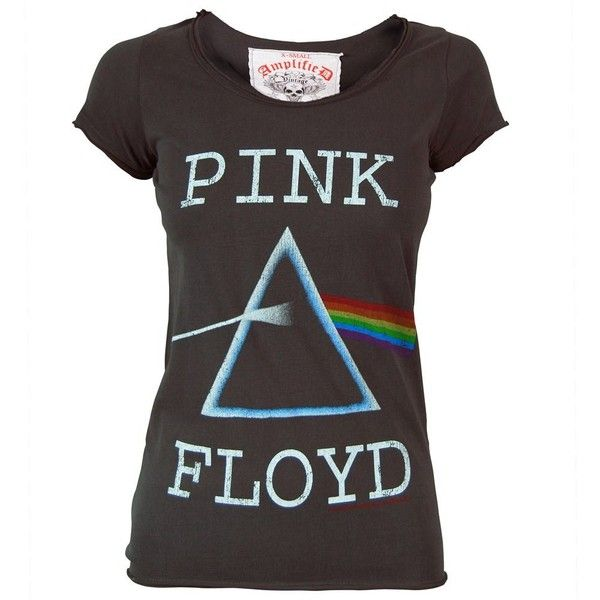 Amplified Womens Pink Floyd Dark Side of the Moon T Shirt Charcoal... (53 AUD) ❤ liked on Polyvore