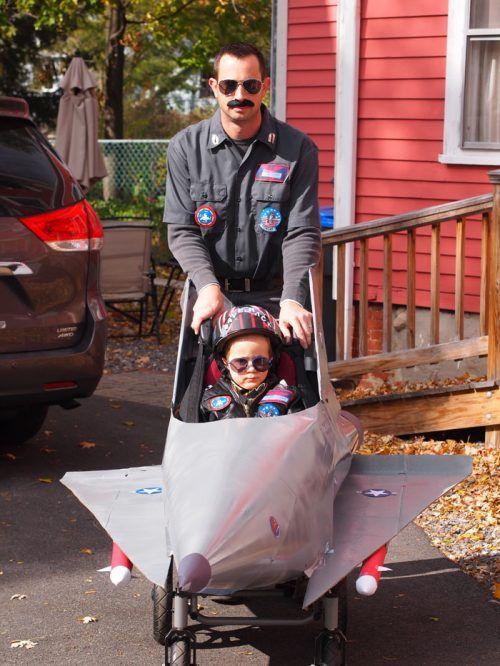 Disfraces para niños en silla de ruedas: Piloto y avión