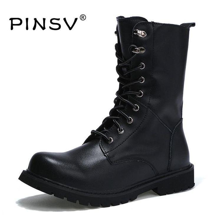 Winter Military Boots Men Shoes Leather Men Boots Brand Fur Boots For Men Autumn Winter Shoes Zapatos Hombre Size 38-48