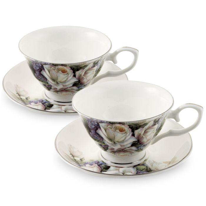 Пара чайная, 2 перс, 4 пр, Сирень и роза  2 190 руб
