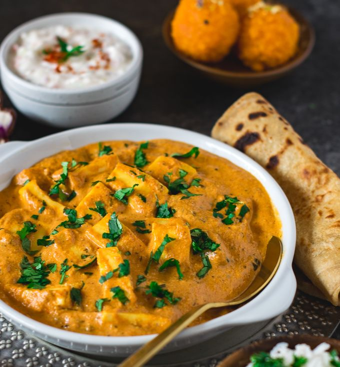 paneer lababdar is a rich and creamy punjabi curry with paneer and homemade cashew tomato gravy on hebbar s kitchen recipes paneer lababdar id=96703