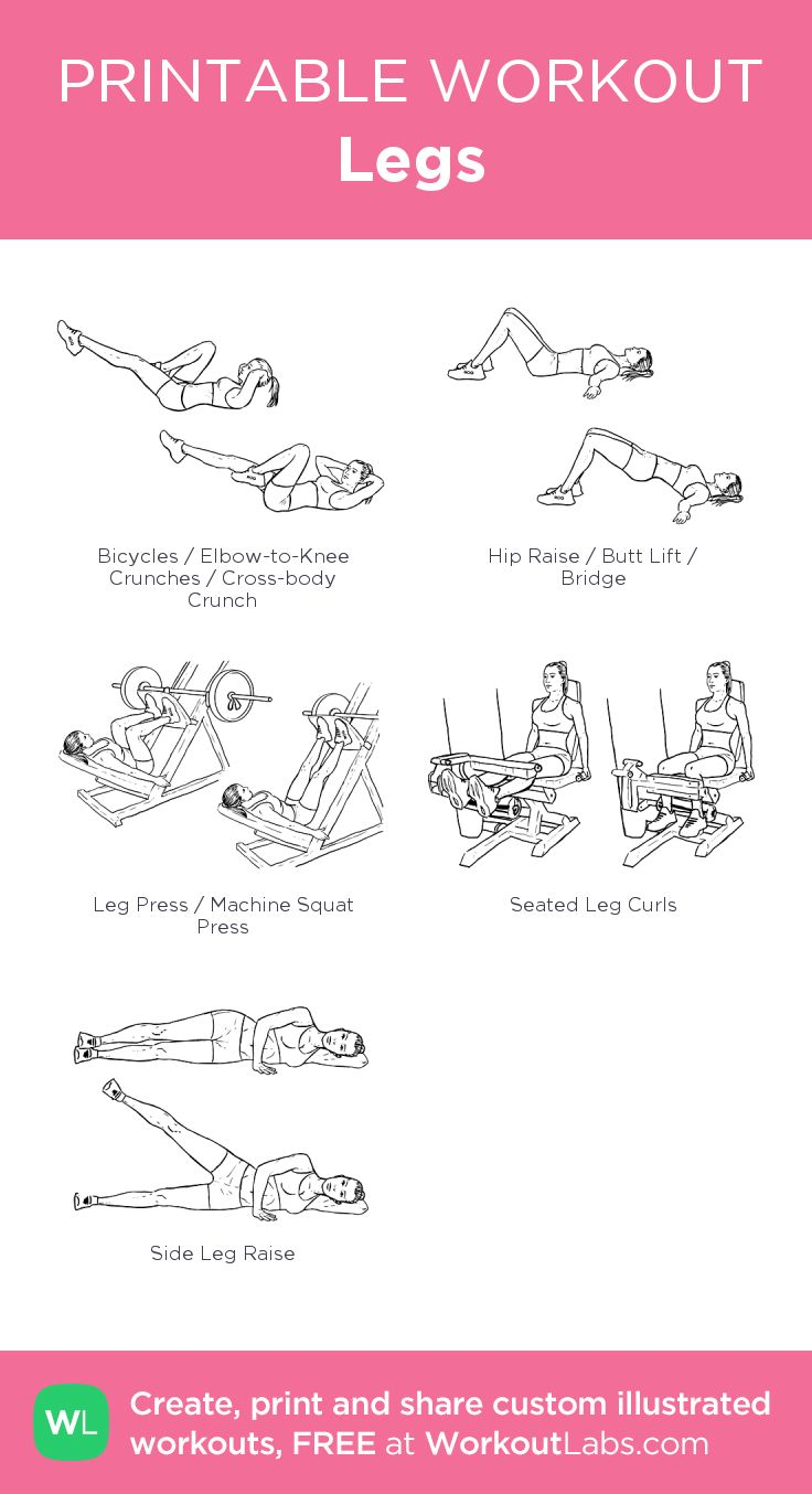 Plus calf raisesLegs: my visual workout created at WorkoutLabs.com • Click through to customize and download as a FREE PDF! #customworkout
