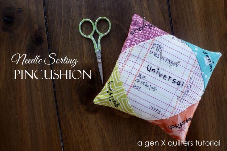Needle Sorting Pincushion Tutorial - Gen X Quilters