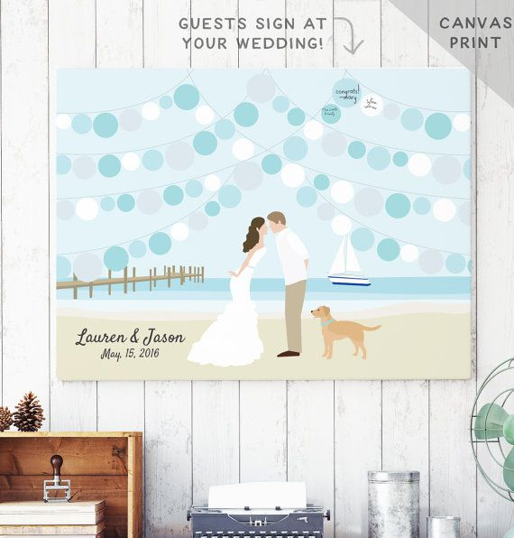 Beach Guest Book Alternative - Beach Wedding Guestbook - Ocean Wedding Guest…