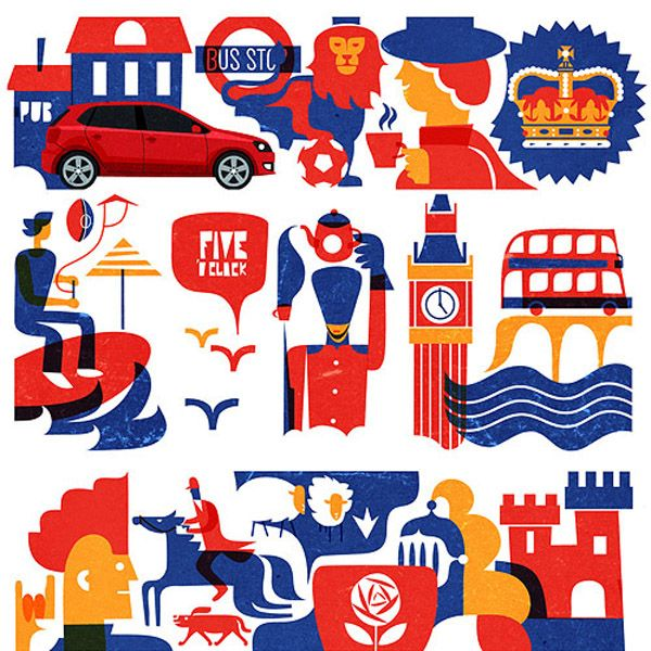 VW Europe illustrations