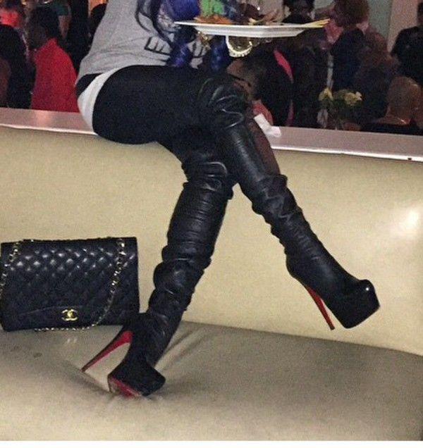 Christian Louboutin Monicarina Thigh High Leather Boots