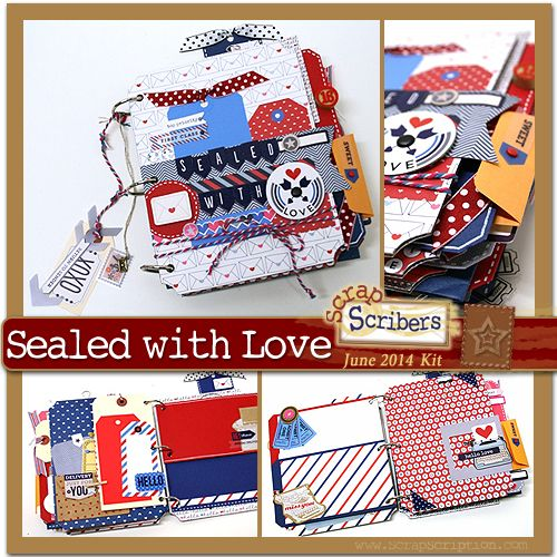Scrapbook Papercraft Pre-Designed Project Kits: ScrapScription - Scrapbooking Kit Club and Papercrafting Project Kits