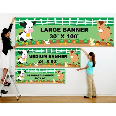 Barnyard Personalized Vinyl Banner