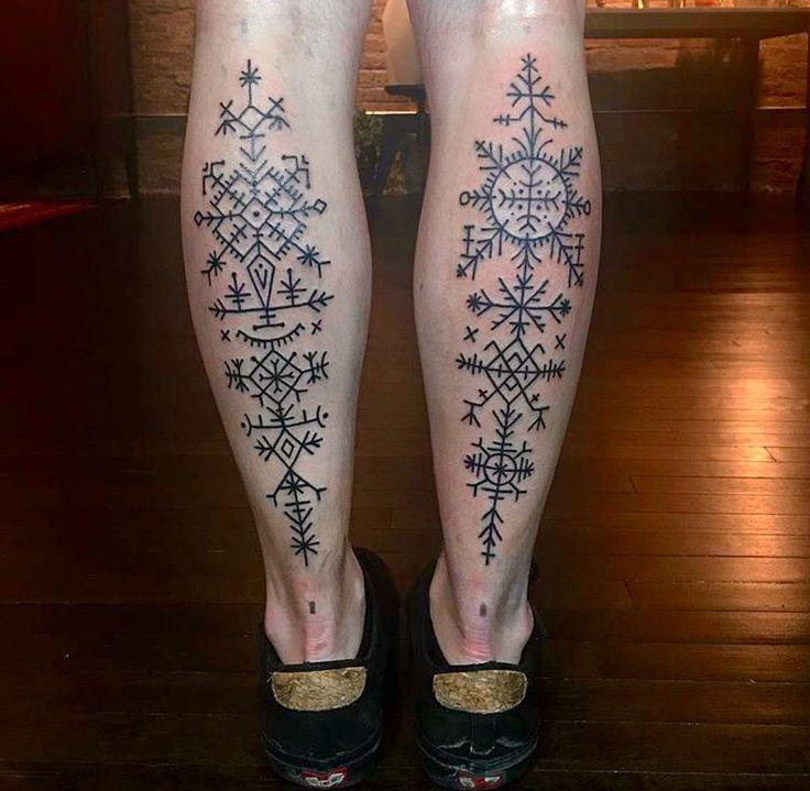 Croatian geometric tattoos.