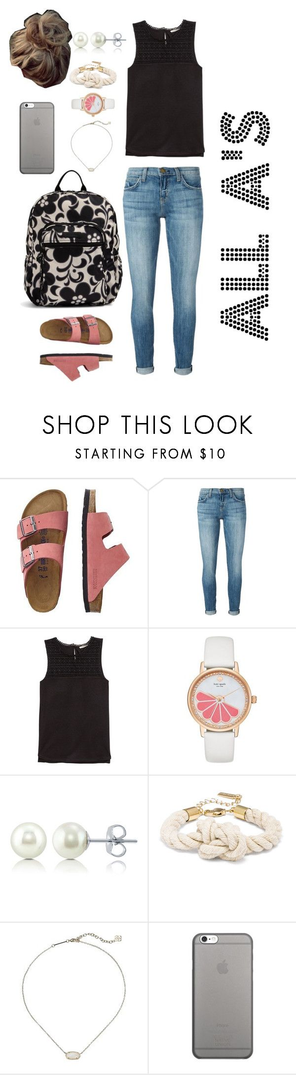 """""""All A's for Amazing"""" by mirandamf on Polyvore featuring TravelSmith, Current/Elliott, H&M, Kate Spade, BERRICLE, Kendra Scott, Native Union and Vera Bradley"""