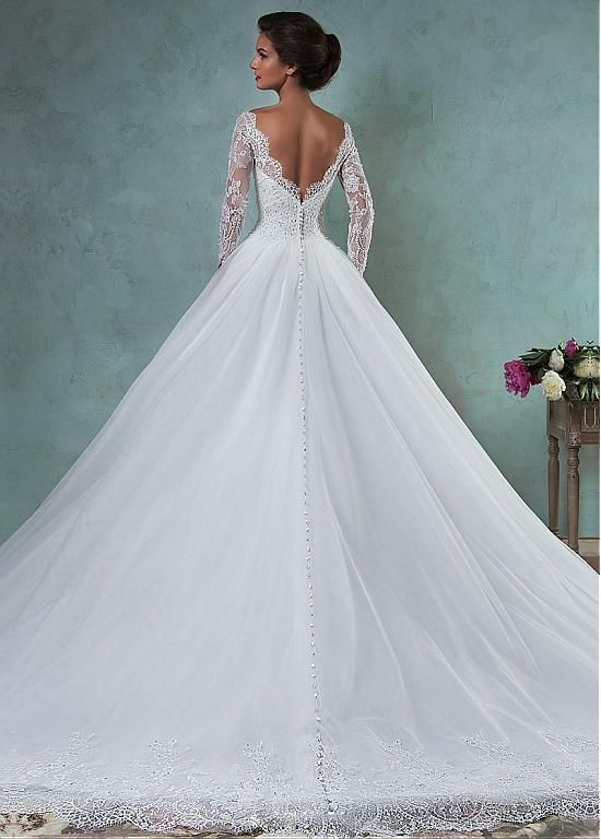 Magbridal Stunning Lace & Tulle Bateau Neckline A-line Wedding Dresses With Bead…