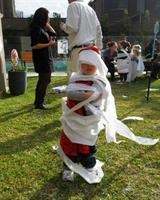 Monster party games - mummy wrapping