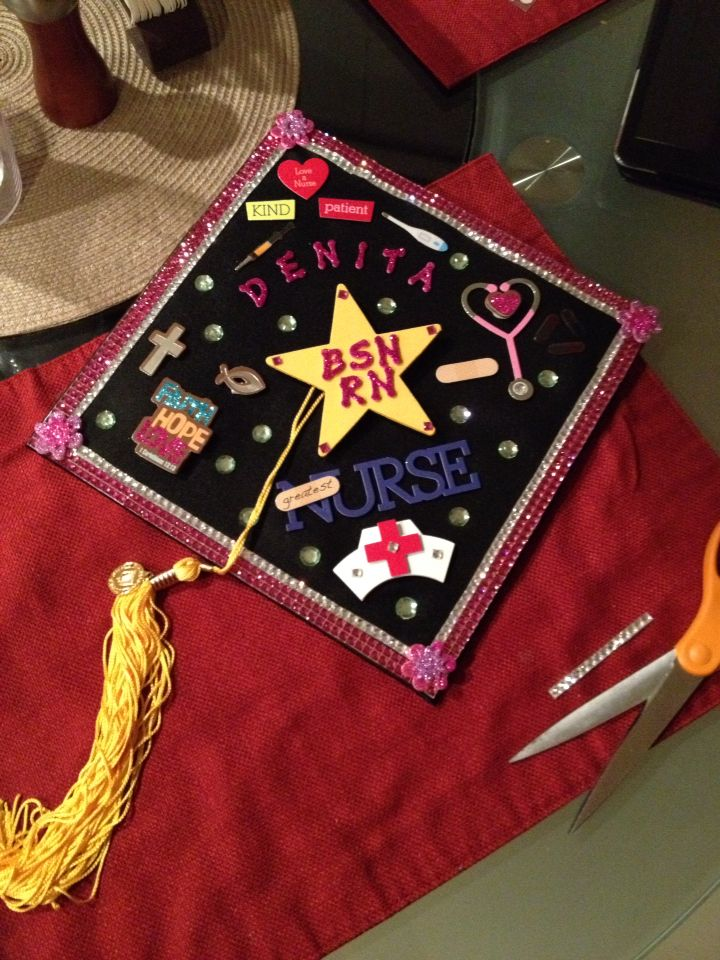 Graduation Cap Decoration Nursing 28 Images