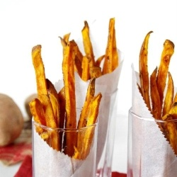 Sweet Potato Fries- I made these today, best sweet potato fries I have ever had!