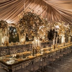 {Wedding Trends}: Strictly Long Tables ~ Image via White Lilac Inc.