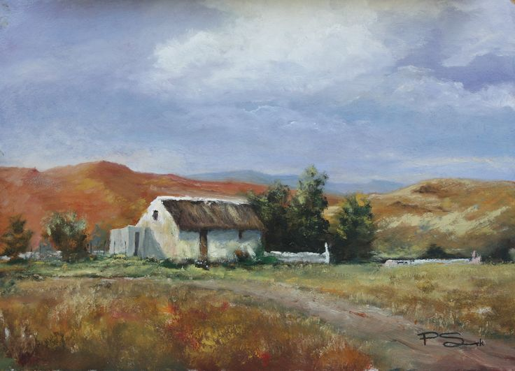 Country Cottage.     60 x 48cm.   Oil on canvas