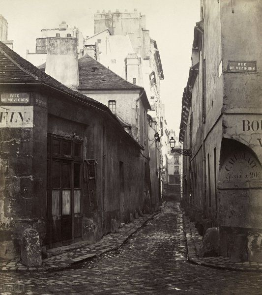 Rue du Gindre, de la rue Madame. Paris VIe. Vers 1867 | Photographe : Charles Marville