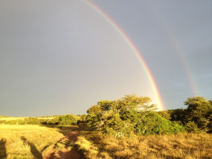 Rainbow at Amakhala Game Reserve in South Africa in February 2013