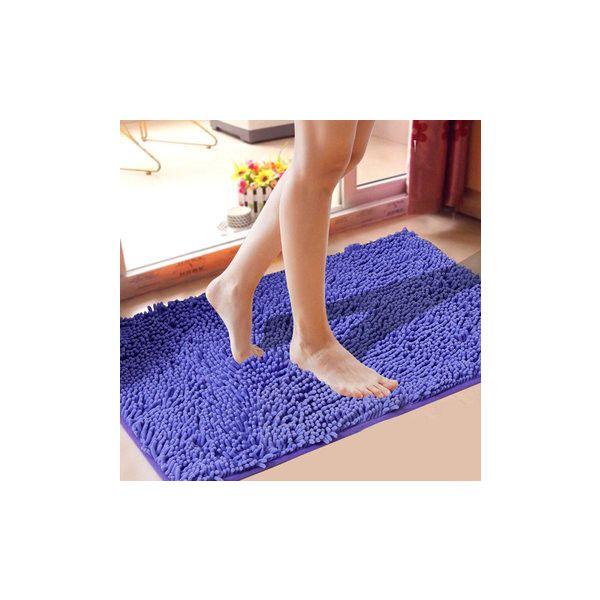 31x19'' Chenille Soft Mat Bathroom Anti Slip Absorbent Carpet Door Mat... ($12) ❤ liked on Polyvore featuring dark purple