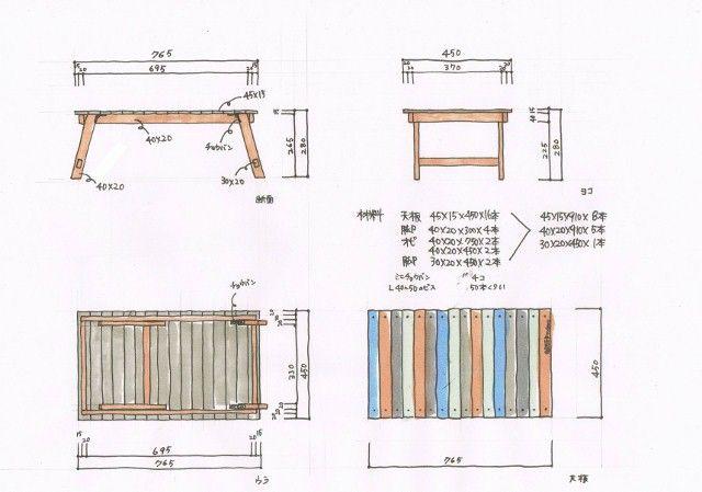 今回は先日行ったworkshopでのウッドテーブルの作り方を簡単に解説いたします。  ホームセンターにあるSPF材でとても簡単に出来ますが、ホームセンターによっては同じ材料が無いので、図面を見ながらサイズを変えて作ってくださいね。 SPFも塗っちゃえばかっこよくなります。軽いので...