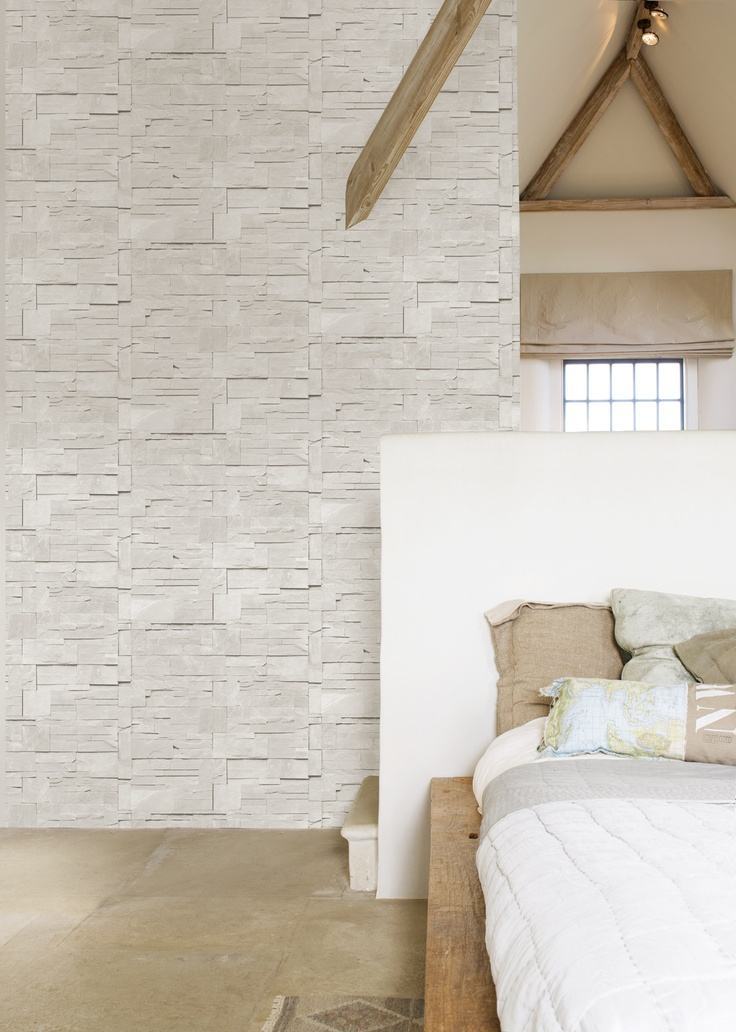 Behang steen grijs Essentially Yours - BN Wallcoverings
