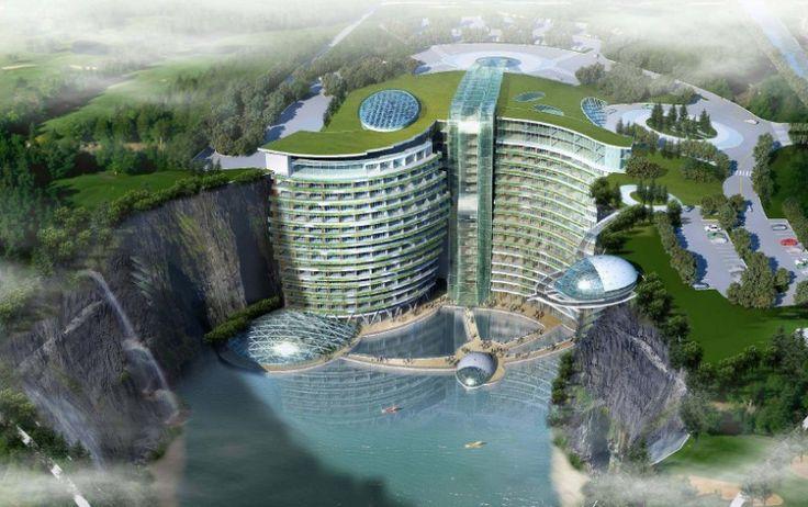 Viitorul InterContinental Songjang Quarry va profita locaţia sa într-o carieră de 90 de metri adâncime pentru a oferi posibilitatea de a realiza sporturi extreme.