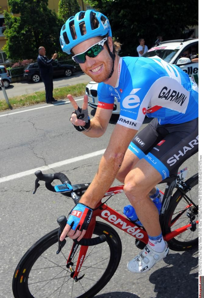 Giro d'Italia 2014 - Stage 10 - Tyler wasn't smiling at the end of the Stage!