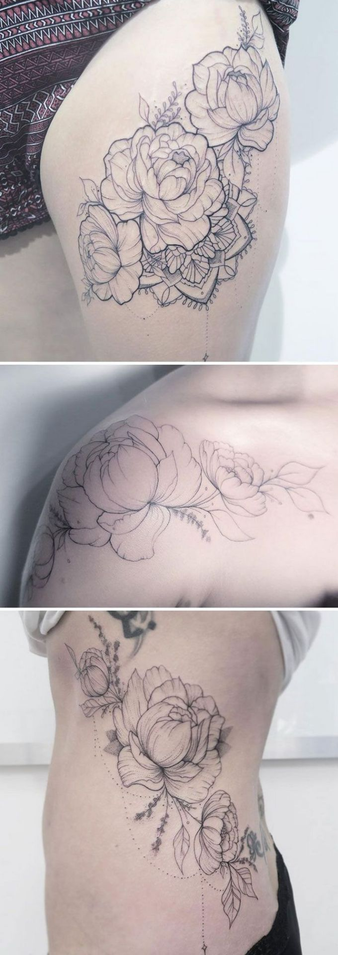 Floral tattoo delicate top design ideas 24