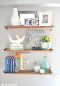 IKEA Hack Rustic DIY Shelves