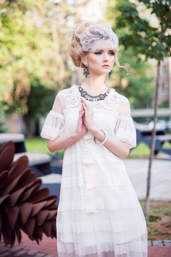 """Cвадебные платья  в ретро стиле 20-х ,""""Немое кино""""."""