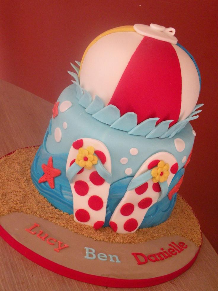 beach themed birthday cake Cake Chick s cakes ...
