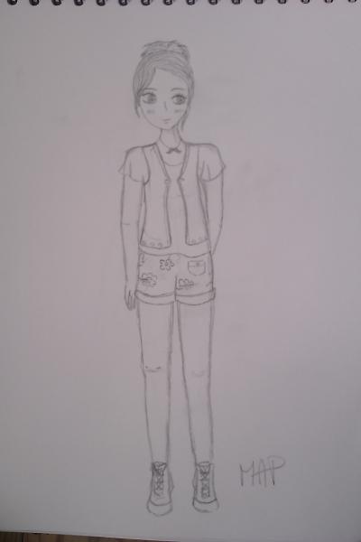 une jeune fille :) dessin de ma soeur
