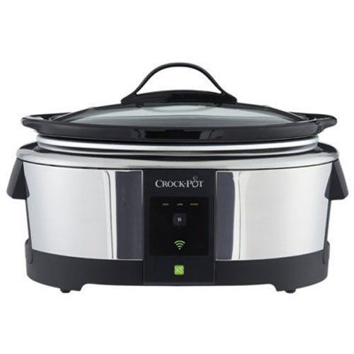 Crock-Pot SCCPWM600-V2 Wemo Smart Wifi-Enabled Slow Cooker, 6-Quart, Stainless #byCrockPot