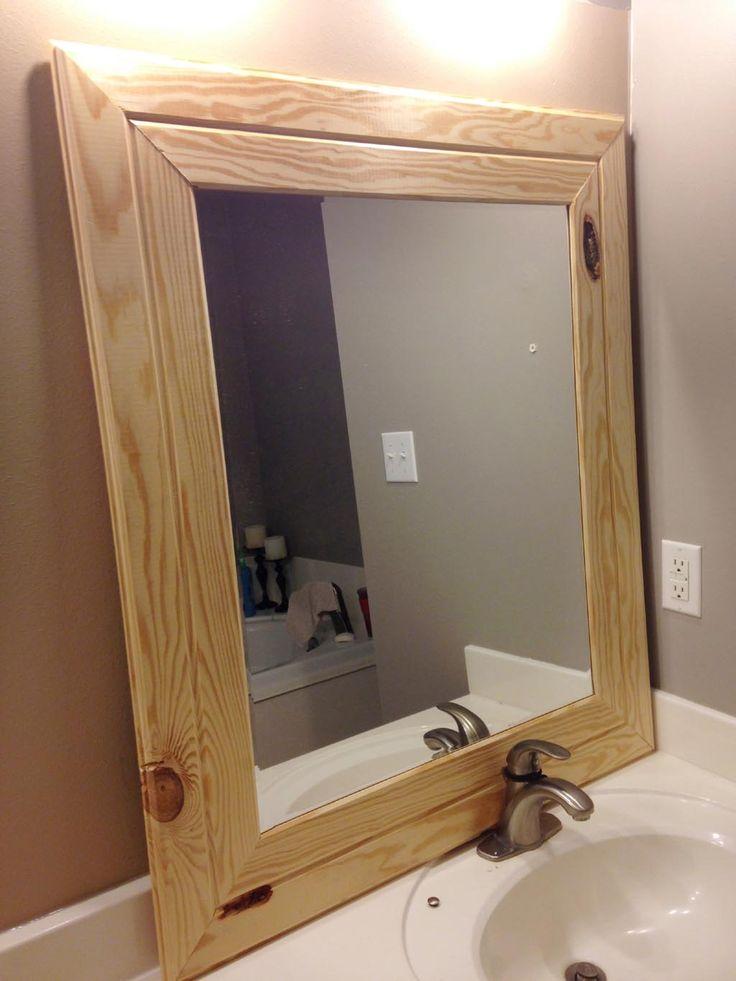cheap wood framed mirrors wooden mirror frame bathroom on wall mirrors id=29797