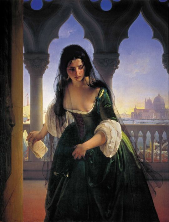 Francesco Hayez - Accusa segreta - 1847