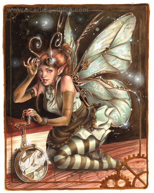 Fix-It Fairy: This type of Fae is very crafty at fixing things. U can usually find them N old abandon warehouses or grandfather clocks. Fix-It Fae's do not look like Disney Tinkerbell, they look more like the fairy N the picture above. These types of fairies R very nice, but U don't want 2 anger them, really U don't.