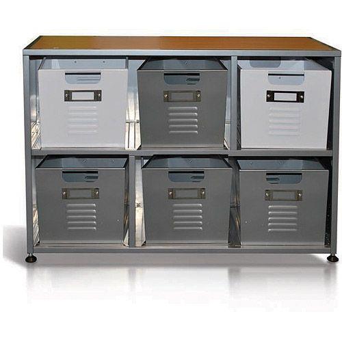 locker bookcase with set of 6 bins kids 39 teen rooms a 39 s room pinterest. Black Bedroom Furniture Sets. Home Design Ideas