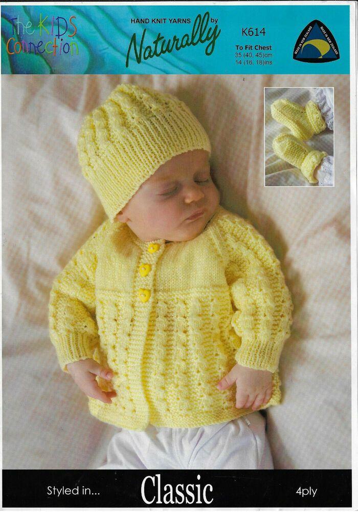 Vintage Knitting PATTERN Baby Toddler Jacket Hat Bootie