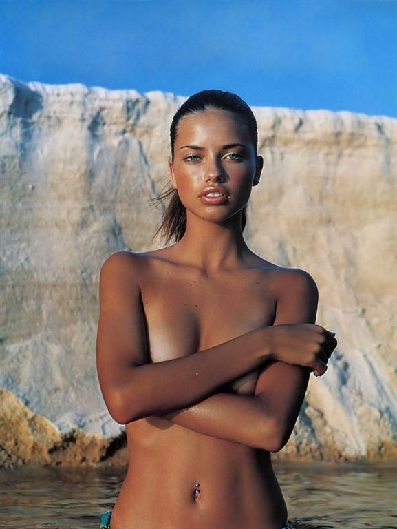 Adriana lima naked beach photo 605