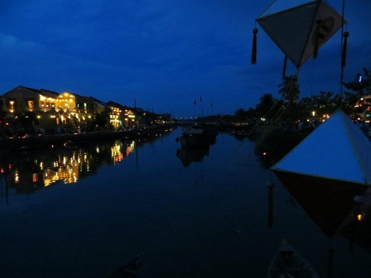Full moon in Hoi An. No artificial lights.